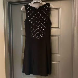 Luxology Silver Studded Black Dress